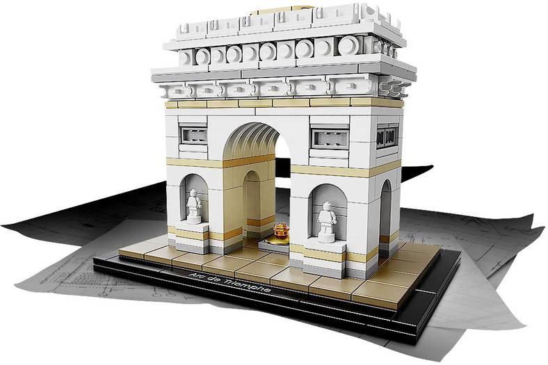 lego architecture 21036 kopen arc de triomphe. Black Bedroom Furniture Sets. Home Design Ideas