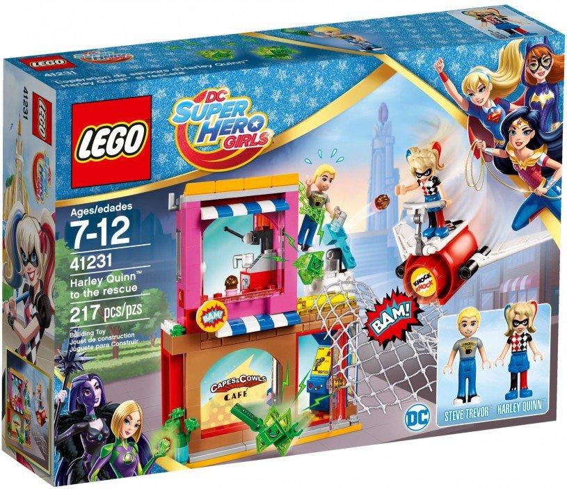 LEGO 41231 Super Heroes Girls Harley Quinn schiet te hulp doos