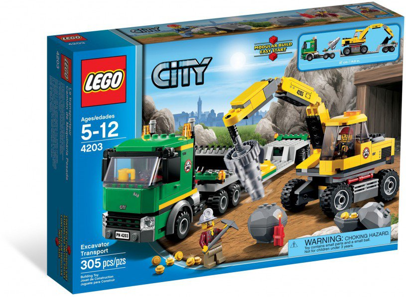 LEGO City Graafmachinetransport 4203
