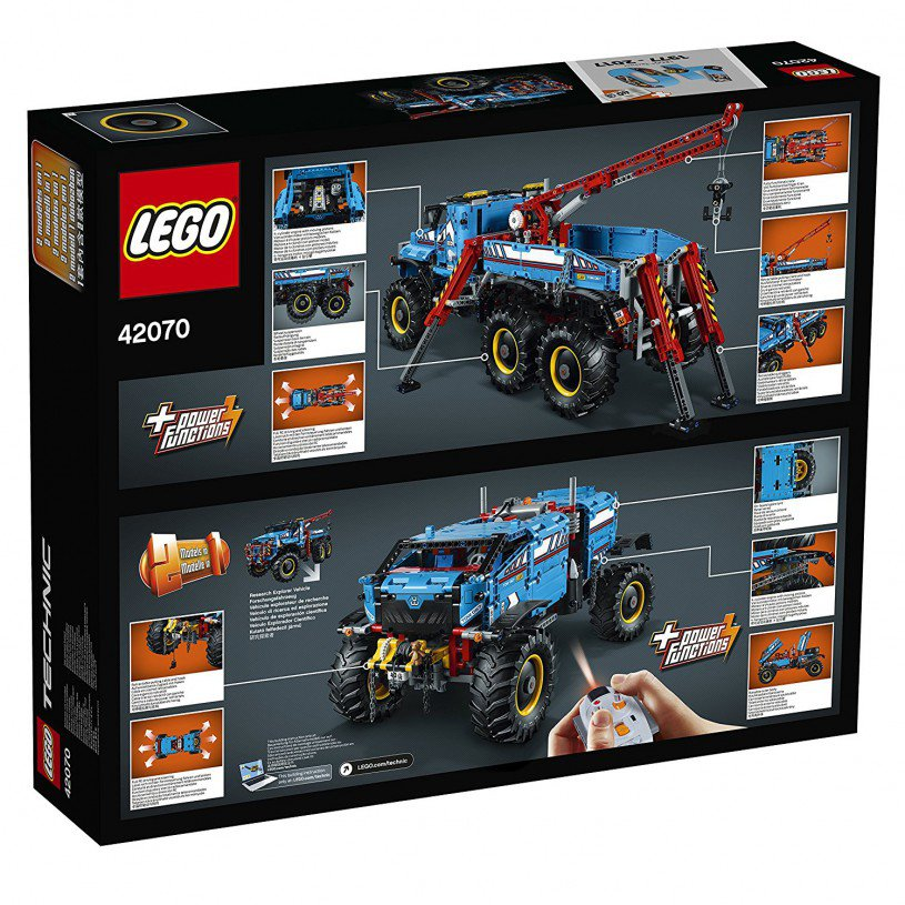 LEGO 42070 Technic: Allterrain sleepwagen 6x6