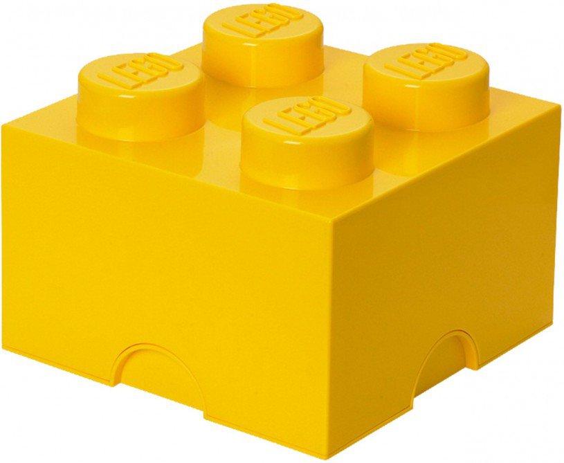 LEGO Opbergen - Lego Opbergbox geel - Brick 4
