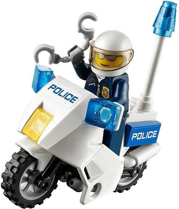 LEGO Politie - Boeven achtervolging met motor 60041