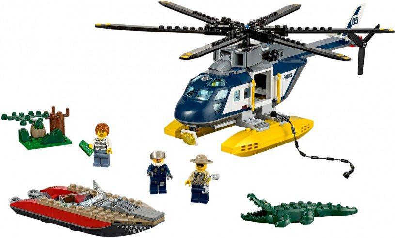 LEGO Moeras Politie Helikopter Achtervolging 60067