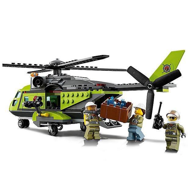 LEGO City Vulkaan Bevoorradingshelikopter 60123