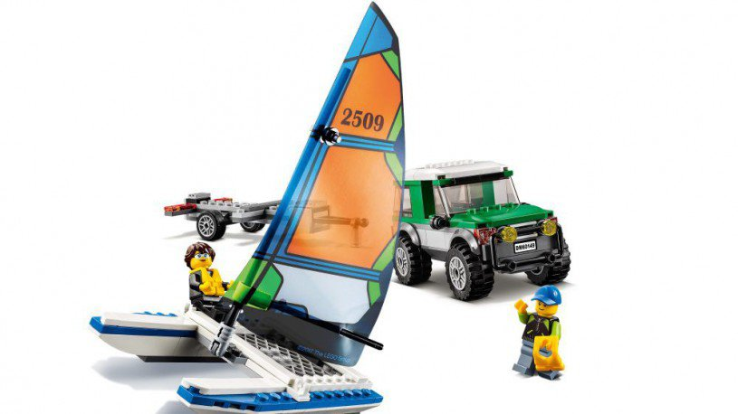 LEGO 60149 City 4x4 met catamaran