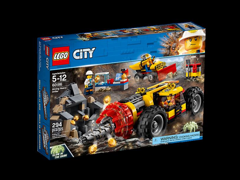 LEGO 60186 City: Zware mijnbouwboor