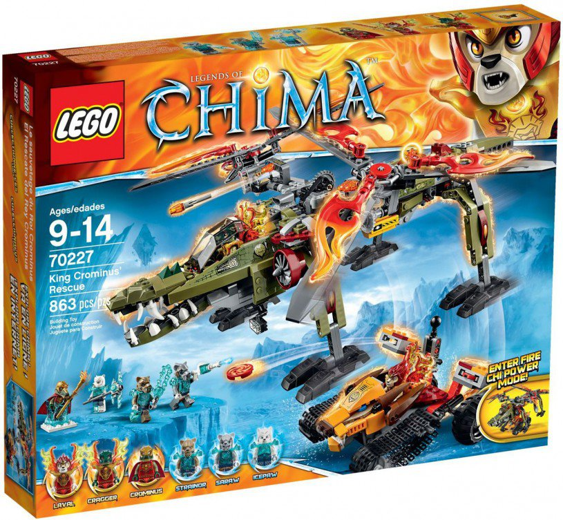 LEGO Legends of Chima De Redding van Koning Crominus 70227