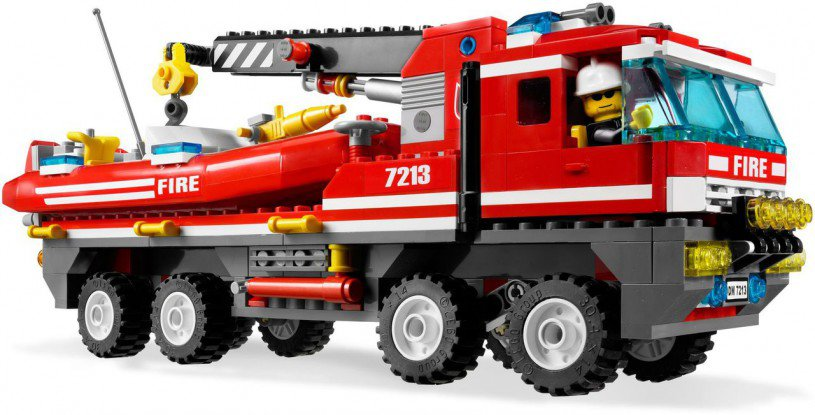 LEGO City Off-road Brandweerwagen en -boot 7213