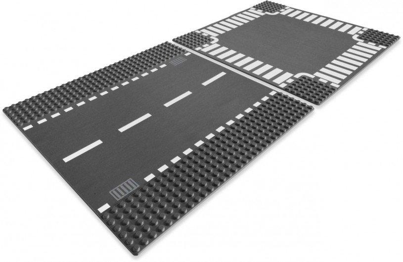 LEGO 7280 Wegenplaten: Rechte wegenplaat en kruising