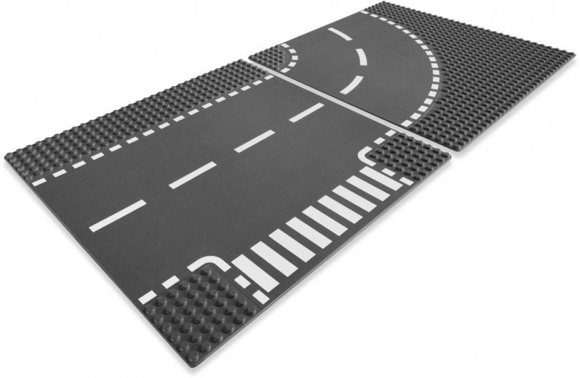 LEGO City - T-Junction & Curved Road Plates 7281