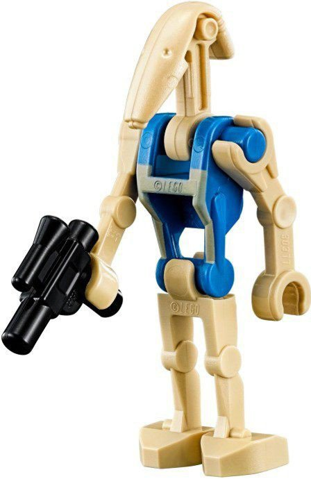 Battle Droid Pilot with Blue Torso with Tan Insignia and Straight Arm