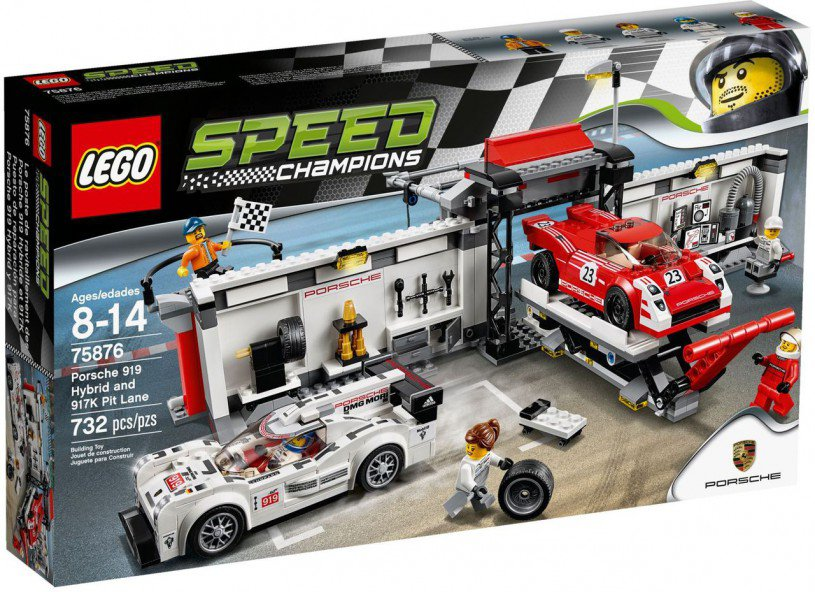LEGO Speed Champions Porsche 919 Hybrid en 917K pitstraat 75876