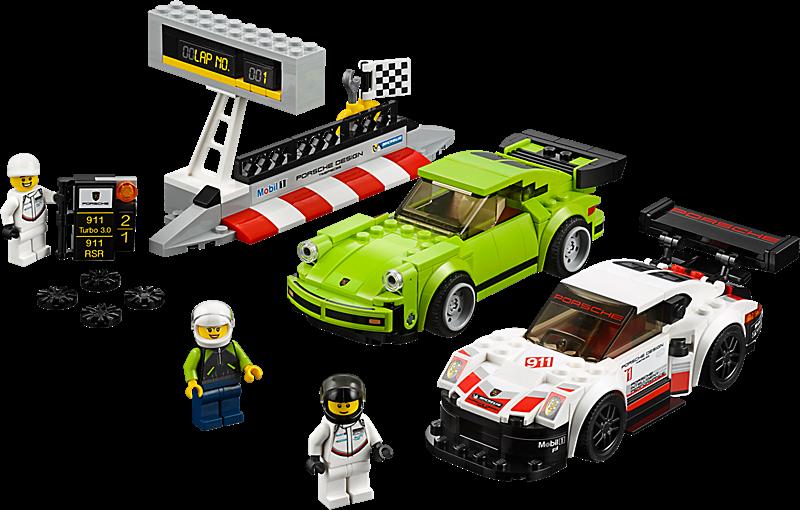 LEGO 75888 Speed Champions: Porsche 911 RSR en 911 Turbo 3.0