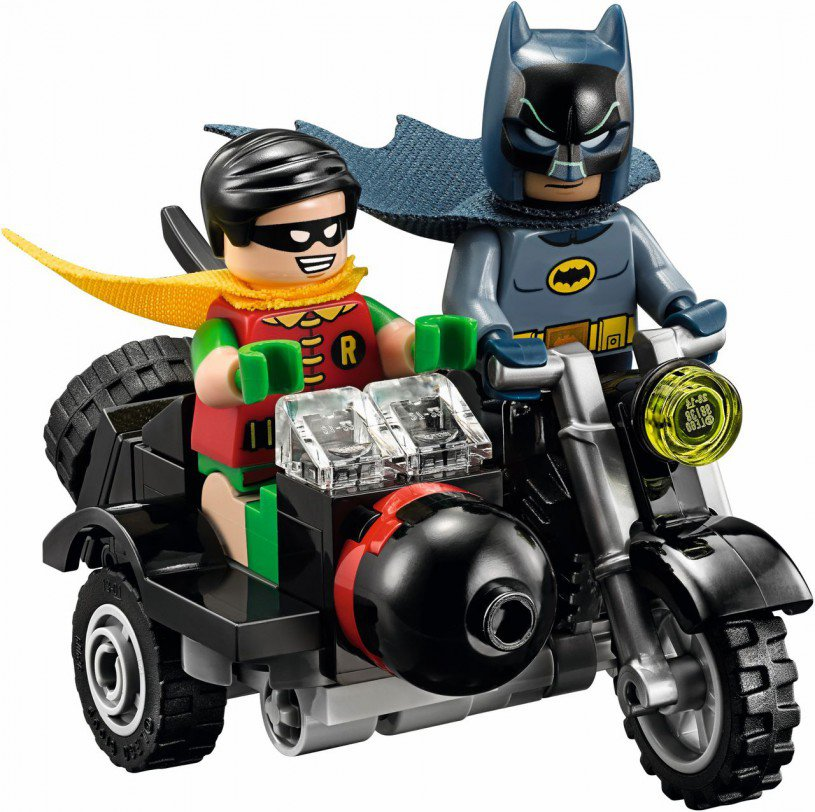 Lego Batman and Robin on Motor