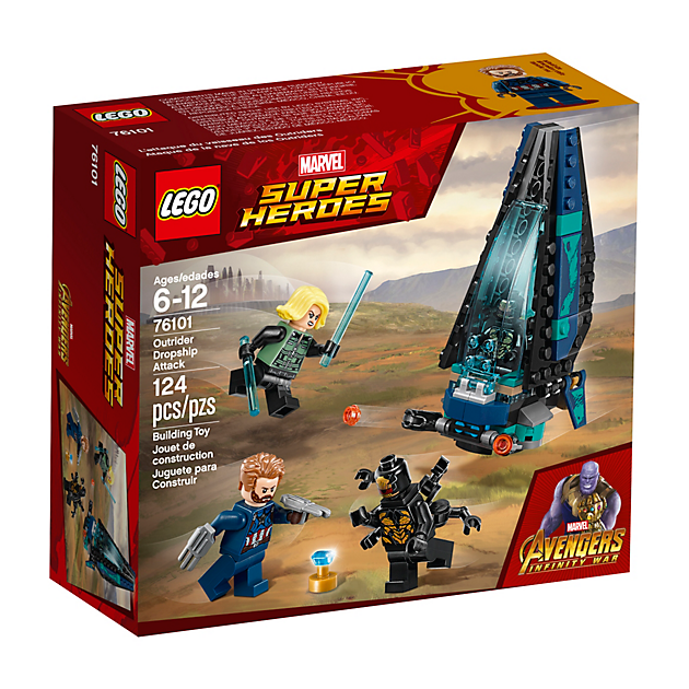 LEGO 76101 Super Heroes: Outrider shuttle aanval