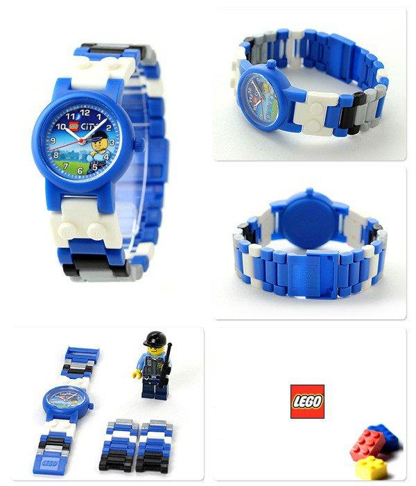 LEGO Horloge: City Politie Kinderhorloge