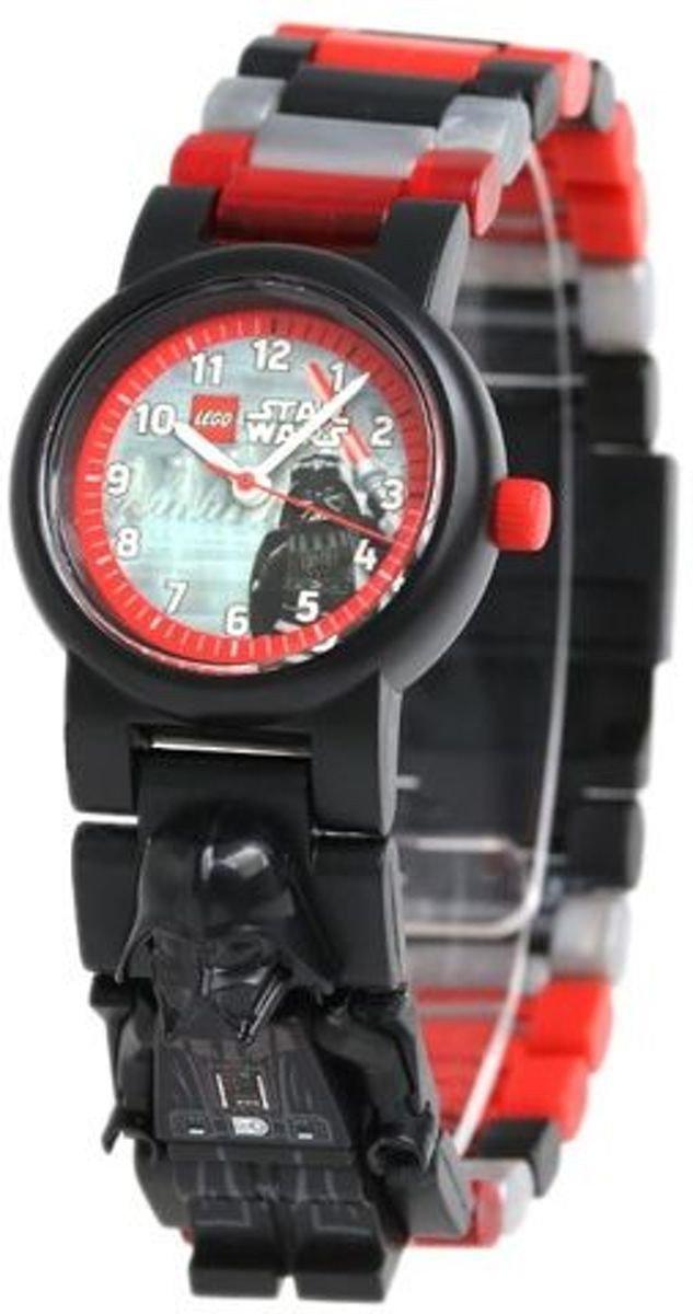 LEGO Horloge: Darth Vader minifigure Kinderhorloge