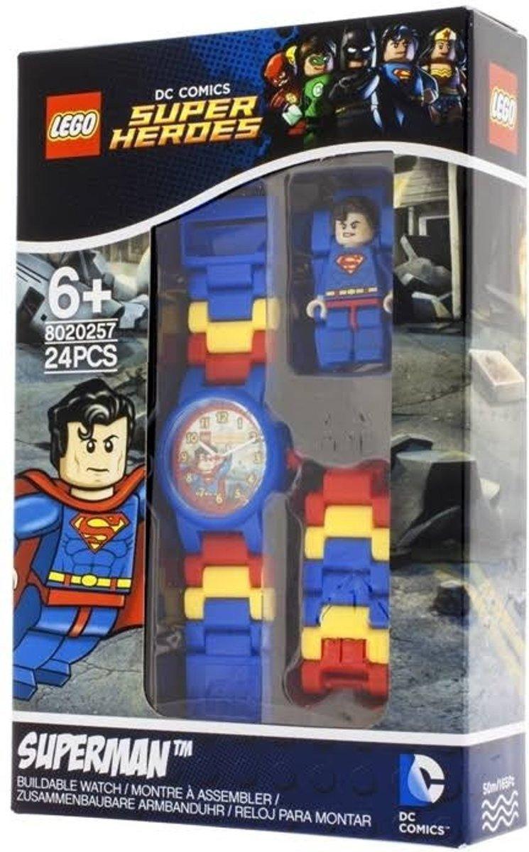 LEGO Horloge: Superman Minifiguur Kinderhorloge