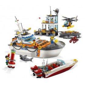 LEGO 60167 City: Kustwacht Boot & hoofdkwartier