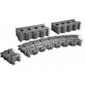 LEGO Rails - Rechte en Flexibel trein rails 7499