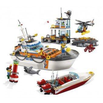 LEGO 60167 : Kustwacht Boot & hoofdkwartier