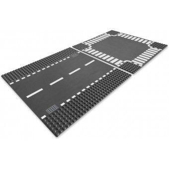 LEGO Wegenplaten - Rechte wegenplaten en kruising 7280