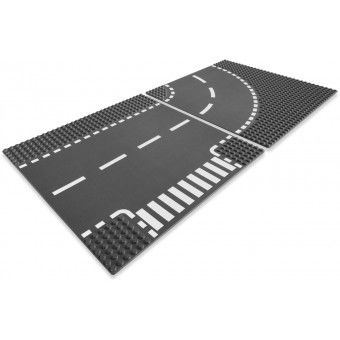 T-Junction & Curved Road Plates 7281
