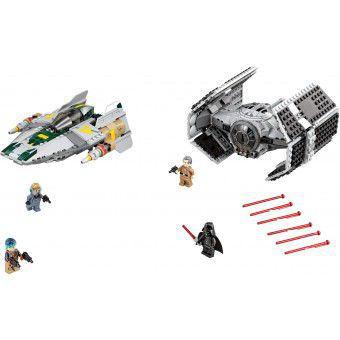 Darth Vaders TIE Advanced tegen de A-Wing Starfighter  75150
