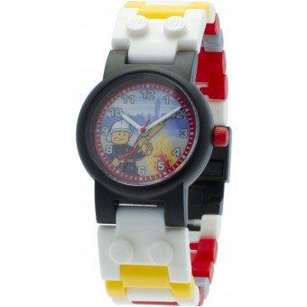 LEGO Horloge:  Brandweerman Kinderhorloge
