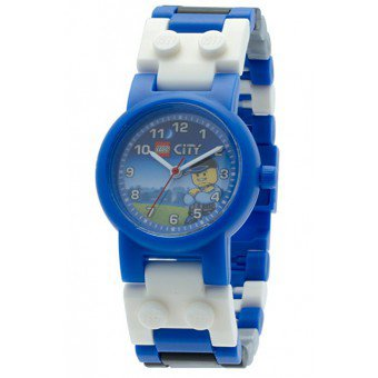 LEGO Horloge:  Politie Kinderhorloge