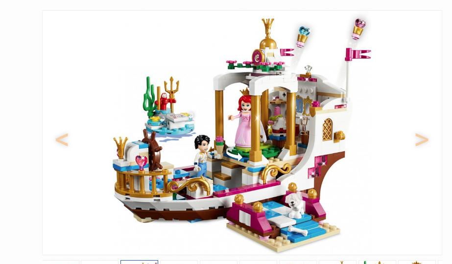 lego disney ariels koninklijke feestboot