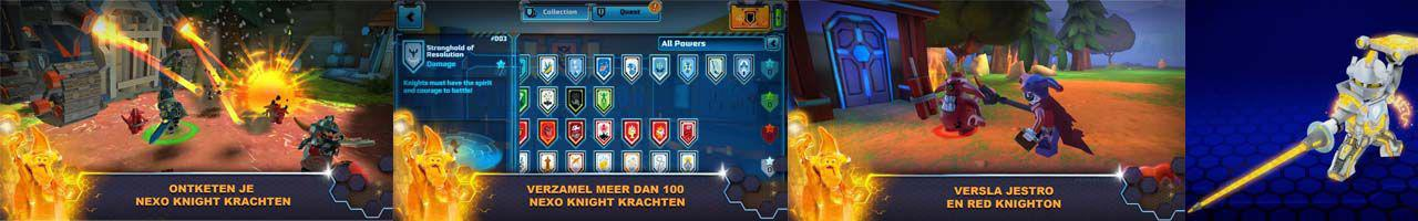 sreenshots nexo knights game
